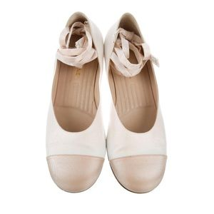 Chanel Shimmery Ballerina Flats 39.5 US 8